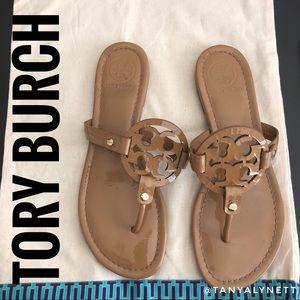 Tory Burch Miller tan patent sandal